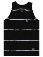 Playera Tank Grizzly Earthquake Stripe Tie Dye Black