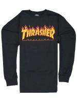 Playera Thrasher Flame M/L Black