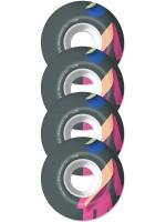 Ruedas Girl Folded Black Pink 99D 52mm