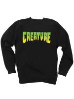 Sudadera Creature Logo Crew Neck Black