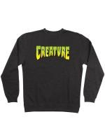 Sudadera Creature Logo Crew Neck Charcoal Heather