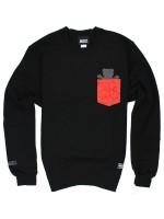 Sudadera Grizzly Cement Pocket Crew Black
