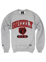 Sudadera Grizzly Halftime Crew Heather Grey