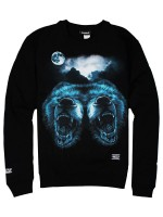 Sudadera Grizzly Roar At The Moon Crew Black