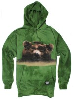 Sudadera Grizzly Submerged Green Tie Dye