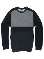 Sudadera Grizzly Top Of The Key Crew Black