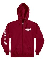 Sudadera Krooked Stock Strait Eyes Zip Red