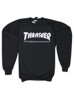 Sudadera Thrasher Skate Mag Crew Black