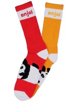 Calcetas Enjoi Mixed Panda Foot Orange Red