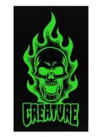 Calcomanía Creature Bonehead Black Green 10.2X17.1cm