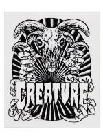 Calcomanía Creature Ceremoney Black White 10X12cm