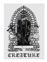 Calcomanía Creature Hate Eternal White Black 10X14.1cm