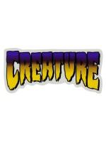Calcomanía Creature Logo Purple 12.5X5.7cm