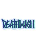 Calcomanía Deathwish Graffiti Logo Blue Green 16.3cmX5.5cm