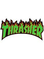 Calcomanía Thrasher Flame Green Yellow Red Black 15x7.5cm