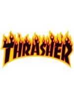 Calcomanía Thrasher Flame Black Red Orange Yellow 15x7.5cm