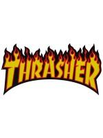 Calcomanía Thrasher Flame Yellow Orange Red Black 26x13.5cm