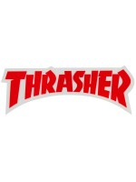 Calcomanía Thrasher Logo Die Cut Red 14.5x5.2cm