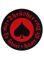 Calcomanía Thrasher Oath Black Red 6.5cm Diametro