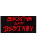 Calcomanía Thrasher Skate And Destroy Black Red 10x5cm
