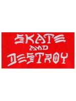 Calcomanía Thrasher Skate And Destroy Red White 16x8cm