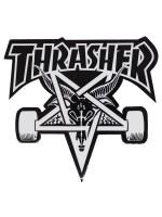 Calcomanía Thrasher Skate Goat Die Cut Black White 23x20.5cm