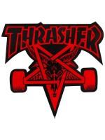 Calcomanía Thrasher Skate Goat Die Cut Red Black 10x9cm