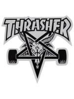 Calcomanía Thrasher Skate Goat Die Cut White Black 23x20.5cm