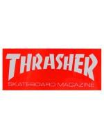 Calcomanía Thrasher Skate Mag Red White 15x6.5cm