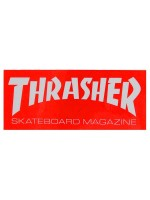 Calcomanía Thrasher Skate Mag Red White 9.5x4cm