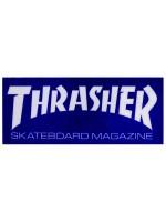 Calcomanía Thrasher Skate Mag Royal White 9.5x4cm