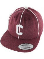Gorra Chocolate Pin Stripe C Wool Strapback Burgundy