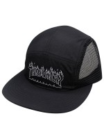 Gorra Thrasher Flame Outline 5 Panel Black