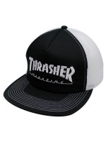 Gorra Thrasher Logo Trucker Black White
