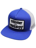 Gorra Thrasher Prevent This Tradegy Trucker Navy Blue White