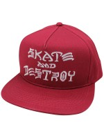 Gorra Thrasher Skate And Destroy Blood Red