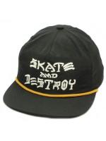 Gorra Thrasher Skate & Destroy Puff Ink Black