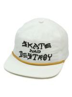 Gorra Thrasher Skate & Destroy Puff Ink White