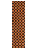 Lija Generica Cuadros Negro Naranja