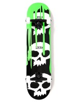 Patineta Completa Zero 3 Skull Blood Youth Green 7.625""