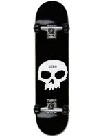 """Patineta Completa Zero Single Skull Black White 8.0"""""""