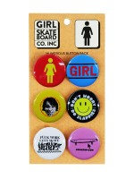 Pin Girl Humerous Button Pack