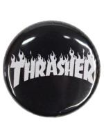 Pin Thrasher Flame Black White
