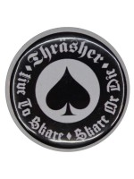Pin Thrasher Oath Black White