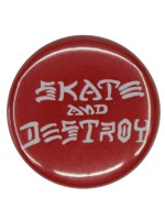 Pin Thrasher Skate And Destroy Red White