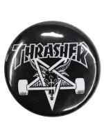 Pin Thrasher Skate Goat Black White