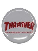Pin Thrasher Skate Mag White Red