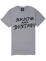 Playera Thrasher Skate & Destroy Grey
