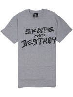 Playera Thrasher Skate And Destroy Grey