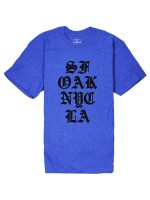 Playera Fourstar City Stack 50/50 Royal Heather